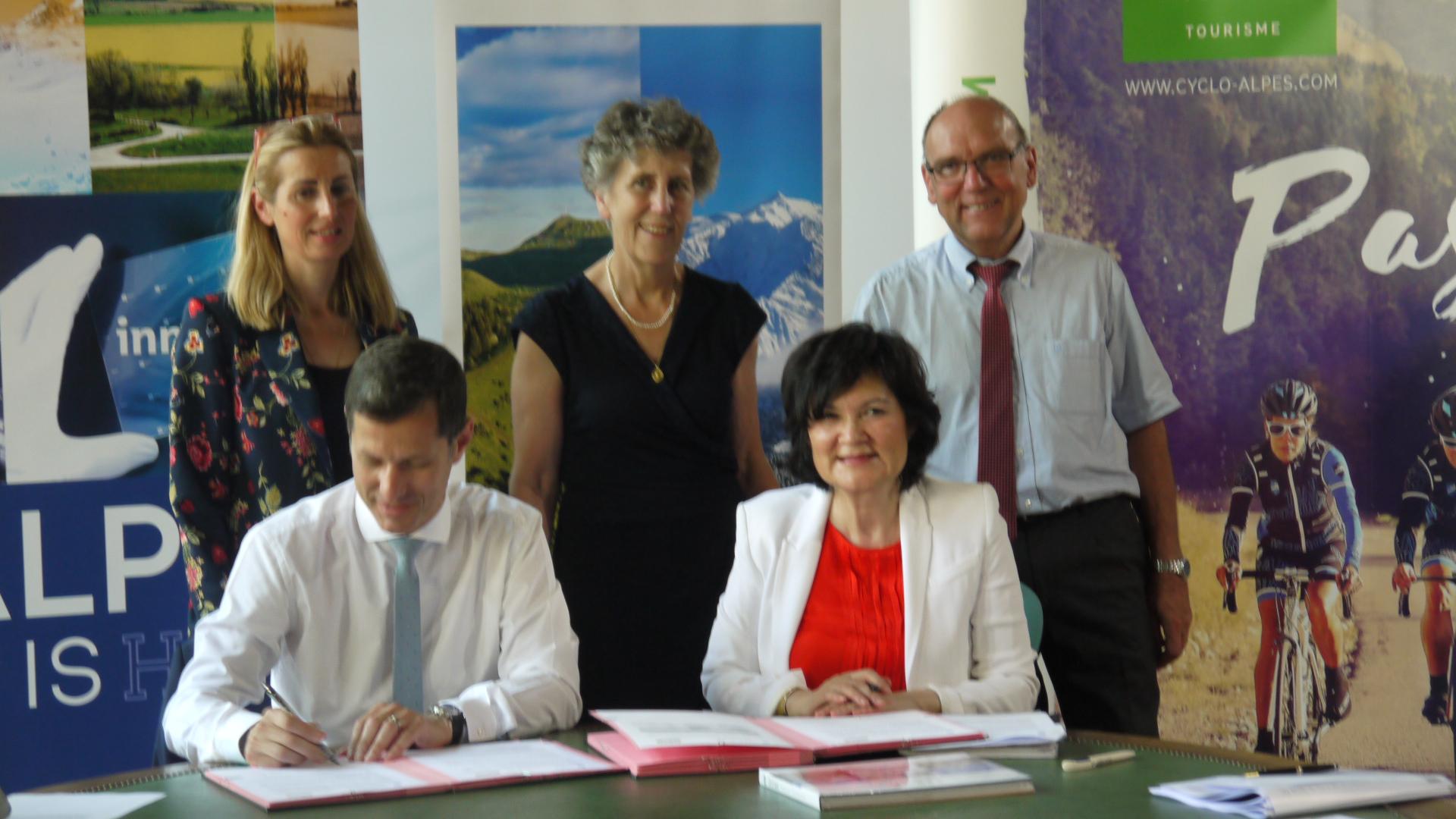 Convention pour le développement du tourisme entre le département et la région